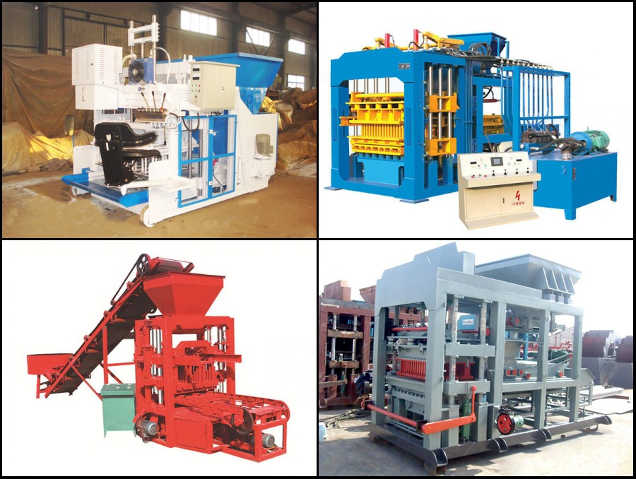 different type brick machine