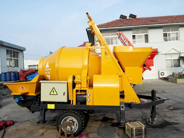 electric concrete mixer pump machine