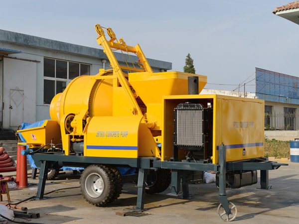 small concrete mixer with pump