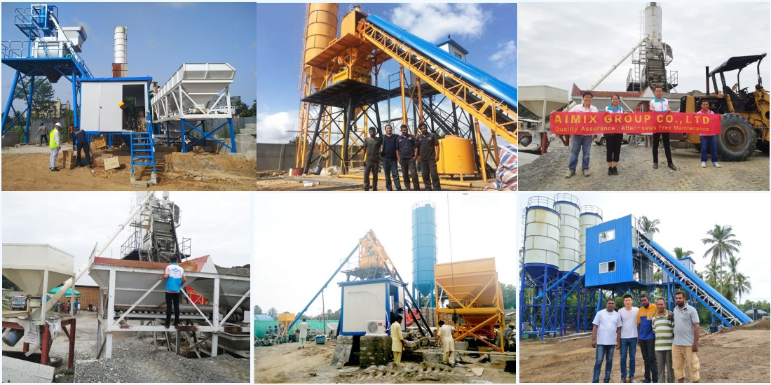 install the concrete batching plant
