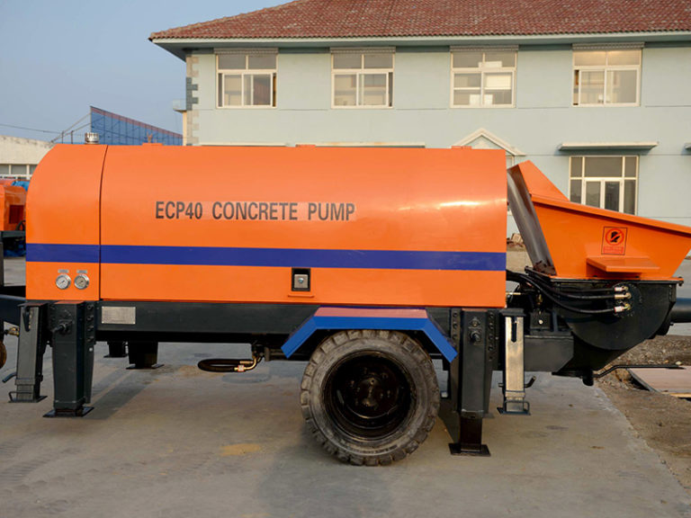 electric engine concrete trailer pump
