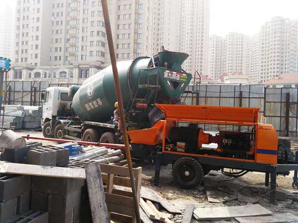 application of cement trailer pump