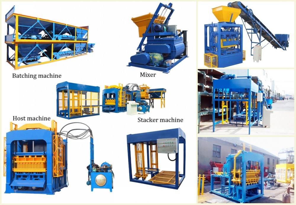 components of hollow block machine for sale