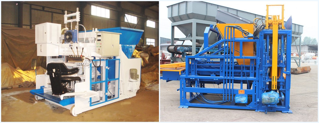 mobile type and stationary type cement block machine