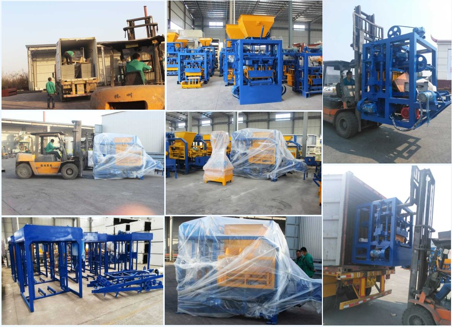deliver QT4-15 brick machine to different countries