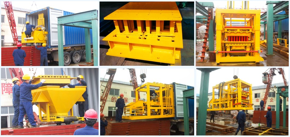 ship ABM-6S cement block machine to Ethiopia
