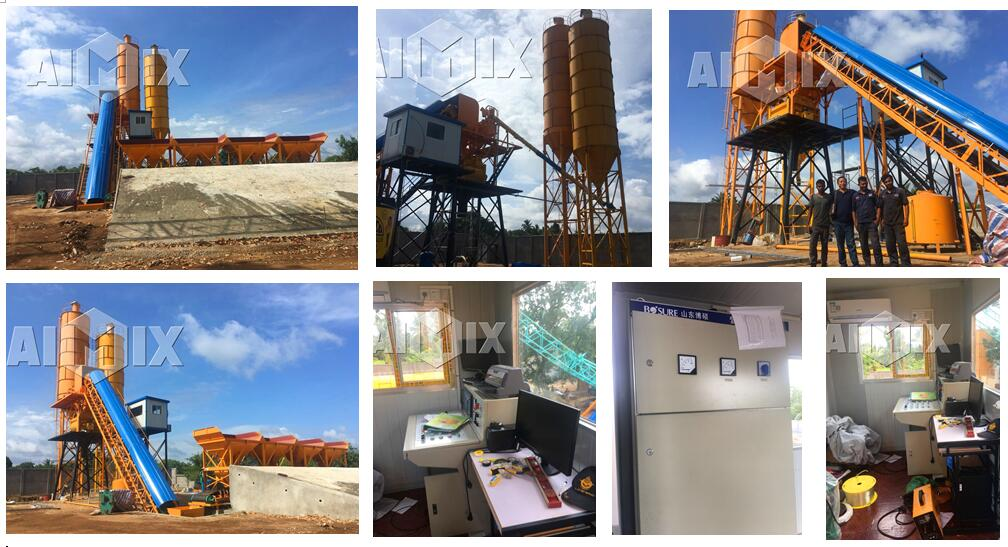 AIMIX HZS60 concrete batch plant in Sri Lanka