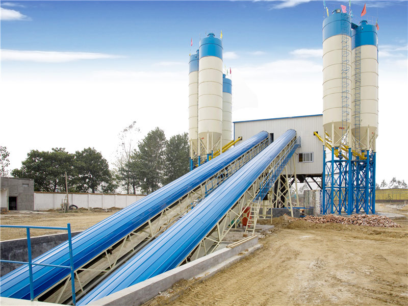 AJ-120 stationary concrete batching plant