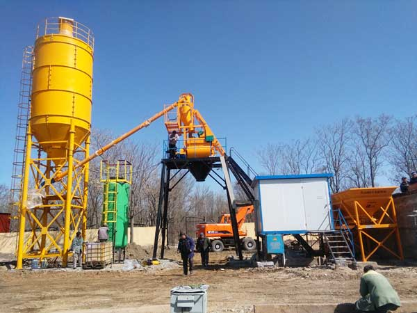 AJ-25 stationary concrete batching plant