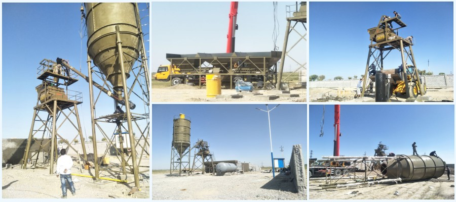 AJ-35 stationary concrete plant is installed in Uzbekistan