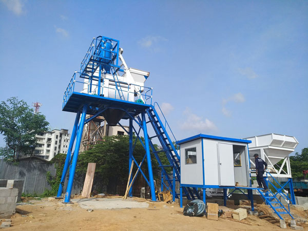 AJ-50 concrete batching mix plant