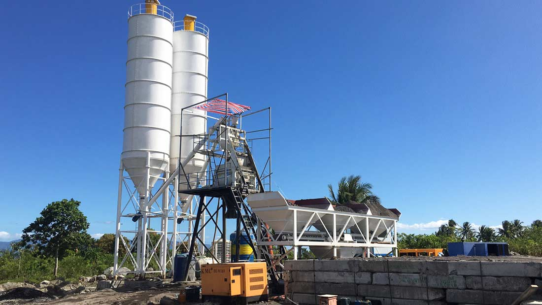 AJ-50 concrete batching plant in philippines