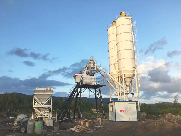 HZS50 concrete plant for sale