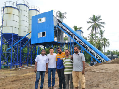 HZS60 concrete plant in the Sri Lanka