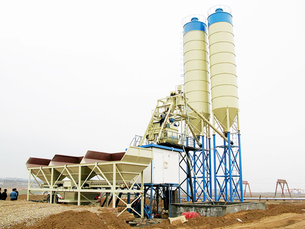 AJ-75 concrete batch mix plant