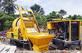 ABJZ40C diesel concrete mixer pump in Philippines
