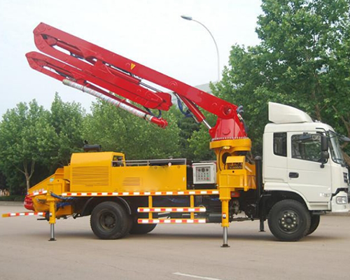 concrete boom pump machine