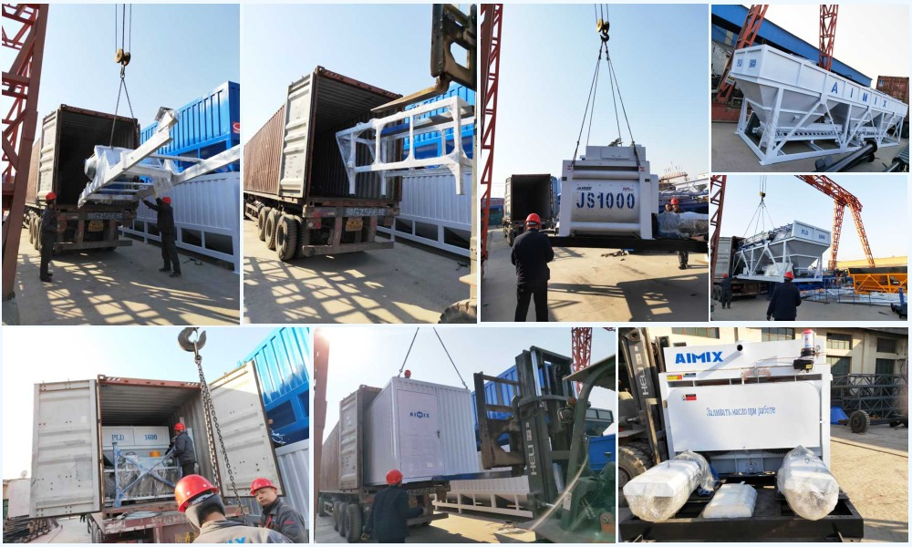 deliver or mini concrete plant to different countries