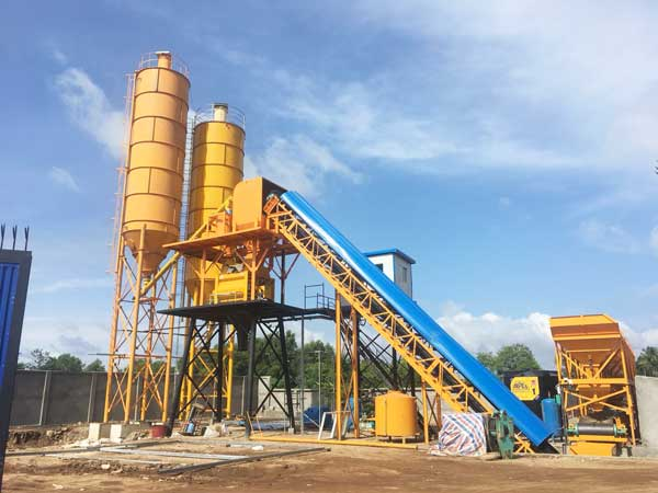 AJ-60 concrete batching mixing plant