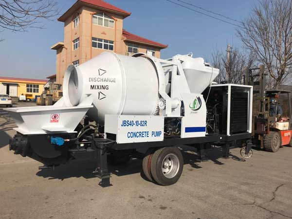 jbs40r mini concrete mixer pump