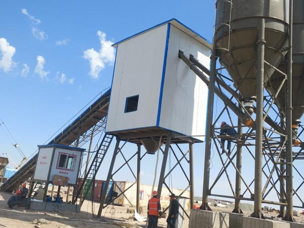 HZS90 batching mixing plant