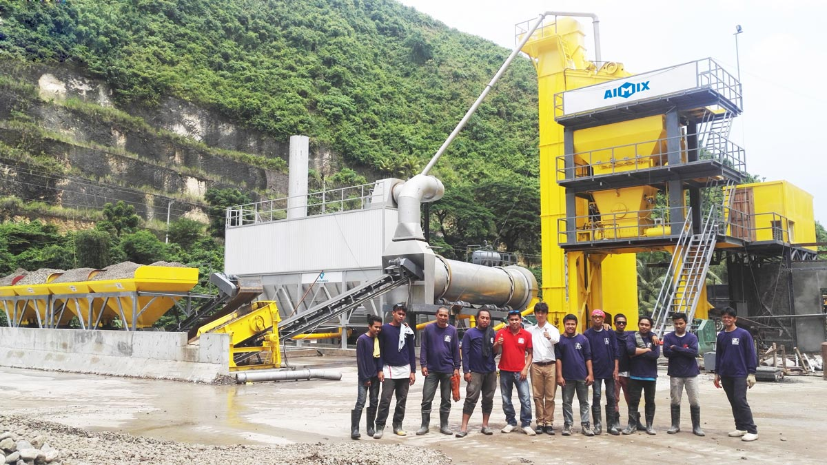 YLB1500 mobile asphalt plant in Philippines