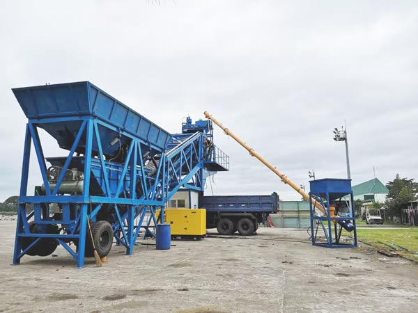 AJY-35 mobile concrete batching plant in pakistan