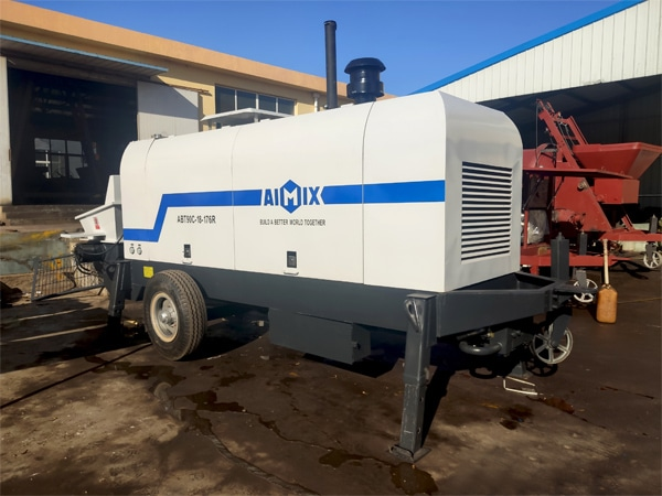ABT90C Trailer Concrete Pump Ready To Be Sent To Jakarta
