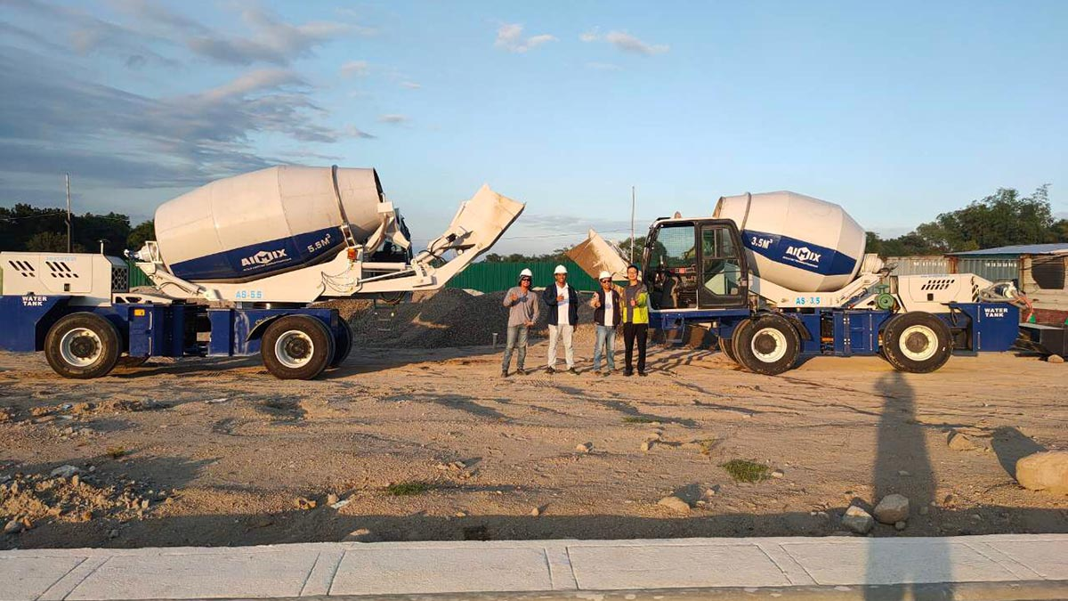 3.5 And 5.5 Cub Self-Loading Concrete Mixer Truck in Bataan Philippines