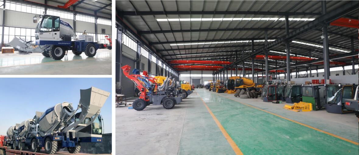 Self loading mixers in our factory